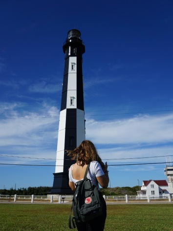 me infront of the lighthouse in Cape Henry